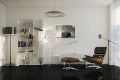 Détails à la maison du repos avec le fauteuil et la fuite élégante images libres de droits