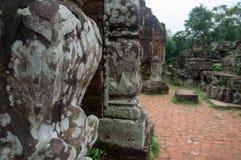 Détails à mon sanctuaire de fils, Vietnam Images stock