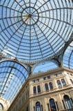Détails archirectural intérieurs de galerie d'Umberto I à Naples, Italie Image stock