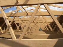 Détails architecturaux de la perspective en bois de ferme photo libre de droits
