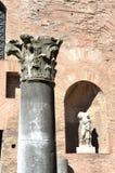 Détails architecturaux des bains de Diocletian Image stock