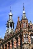 Détails architecturaux des maisons à Amsterdam Images stock
