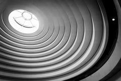 Détails architecturaux incurvés dans le Musée National de l'Ameri photographie stock libre de droits