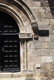 Détails architecturaux sur la vieille ville, Rhodes Island, Grèce photographie stock libre de droits