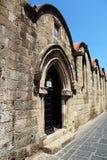 Détails architecturaux sur la vieille ville, Rhodes Island, Grèce image libre de droits