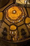 Détails artistiques brillants sur un dôme de cathédrale de Santa Maria del Fiore à Florence, Toscane Image libre de droits
