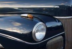 Détails bleu-foncé de voiture de vintage Image stock