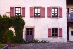 Détails classiques de bâtiment de l'Europe Photo libre de droits