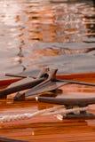 Détails classiques de yacht images stock