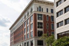 Détails classiques sur le vieil immeuble de brique Photos libres de droits