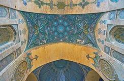 Détails décoratifs de mosquée de Sepahsalar, Téhéran Photos libres de droits