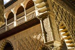 Détails d'Alcazar royal de Séville, Espagne Photo libre de droits