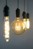 Détails d'ampoules d'Edison Photographie stock libre de droits