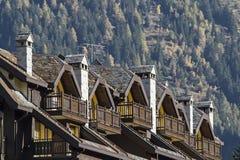 Détails d'architecture dans Ponte Legno Images stock