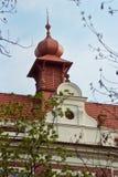 Détails d'architecture sur les rues Prague, République Tchèque Photographie stock libre de droits