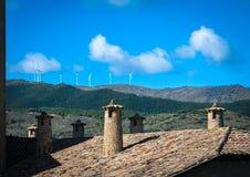 Détails d'architecture typique de village médiéval espagnol avec Photographie stock libre de droits