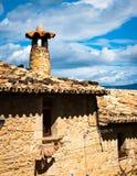 Détails d'architecture typique de village médiéval espagnol avec Image stock