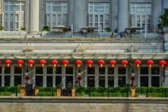 Détails d'hôtel de Fullerton à Singapour photos libres de droits