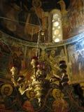 Détails d'intérieur de monastère de Meteora Images stock