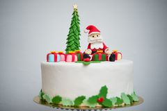Détails d'un gâteau de Noël photos libres de droits