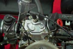 Détails d'un nouveau moteur de kart photos stock