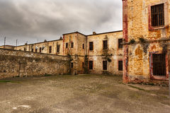 Détails d'une prison historique photographie stock libre de droits