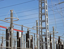 Détails d'usine de l'électricité Images stock
