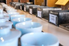 Détails dans les affaires du commerce de thé Image stock