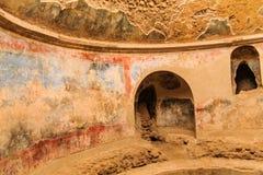 Détails dans les bains publics à Pompeii photos libres de droits