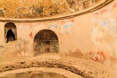 Détails dans les bains publics à Pompeii photographie stock