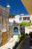 Détails de bâtiments historiques de Rhodos Grèce Photos libres de droits
