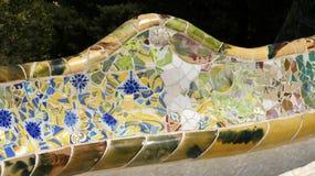 Détails de banc de Gaudi Image libre de droits