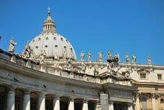 Détails de basilique de rue Peter, Vatican Images stock