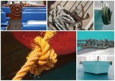 Détails de bateau, éléments de mer photo stock