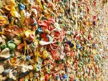 Détails de chewing-gum de ruelle de poteau Image stock