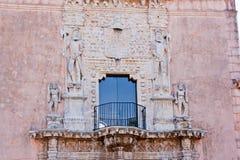 Détails de fenêtre de Montejo de maison Image libre de droits