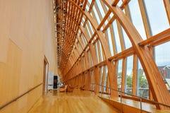 Détails de finition de bois de construction de sapin de Douglass au puits Italie Photo libre de droits