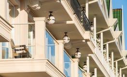 Détails de l'architecture originale de l'hôtel cinq étoiles, Kranevo en Bulgarie Image libre de droits