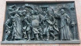 Détails de l'histoire russe Kremlin et grand dos rouge Image stock