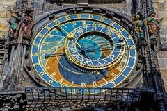 Détails de l'horloge astronomique de Prague images libres de droits