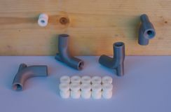 détails de l'imprimante 3D, selfmade imprimés à la maison Photos stock