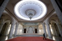 Détails de l'intérieur du palais roumain du Parlement photographie stock