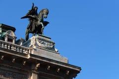 Détails de la façade principale de l'opéra de Vienne - l'Autriche Photographie stock