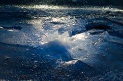 Détails de la glace cassée Image libre de droits