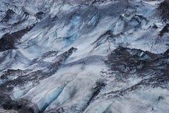 Détails de la glace dans un glacier, au sud de l'Islande Photos stock