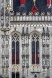 Détails de la ville hôtel à Bruges du centre, Belgique photos stock