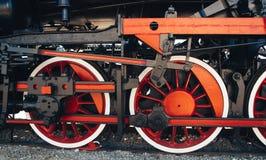 Détails de locomotive à vapeur polonaise images libres de droits