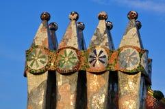 Détails de maison Batllo par Gaudi, Barcelone Photos libres de droits