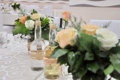 Détails de mariage, accessoires pour épouser le hall photographie stock libre de droits