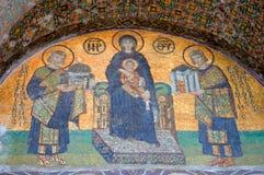 Détails de mosaïque de Hagia Sophia Photos stock